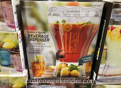 Costco 1264544 - Ensure your guests are never thirsty with the Buddeez Tritan Beverage Dispenser