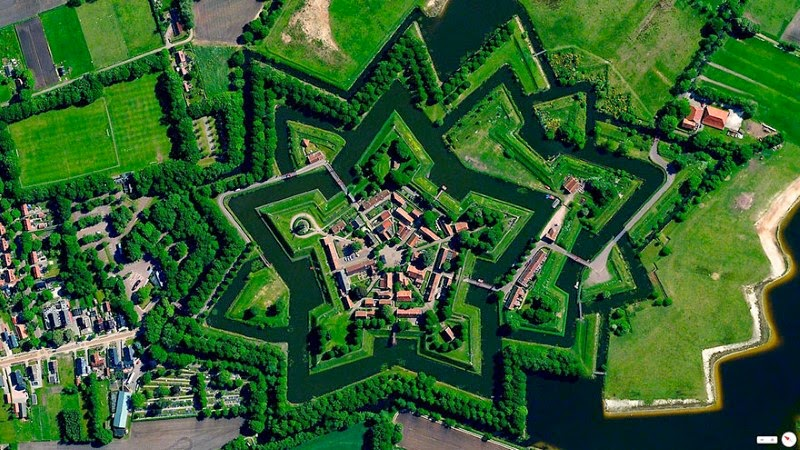 1. Bourtange, Vlagtwedde, Netherlands - 17 Breathtaking Satellite Photos That Will Change How You See Our World