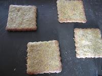 Biscuits à la courge sur plaque après cuisson, Halloween