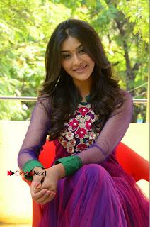 Actress Pooja Jhaveri Latest Stills in Purple Salwar Kameezt at Dwaraka Success Meet  0202.JPG