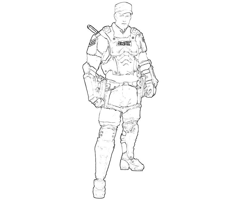 Swat Officer Coloring Pages Coloring Pages