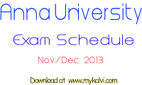 anna university,mykalvi,time table