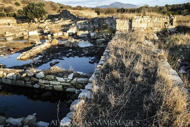 Esquina suroccidental del castillo bizantino de Kyme