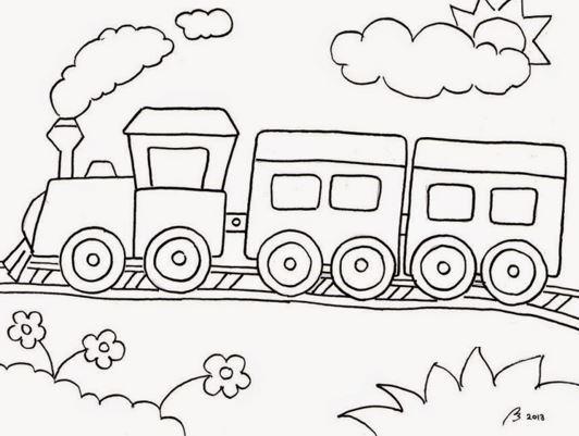 Contoh Sketsa Gambar Mewarnai Anak Tk Terbaru