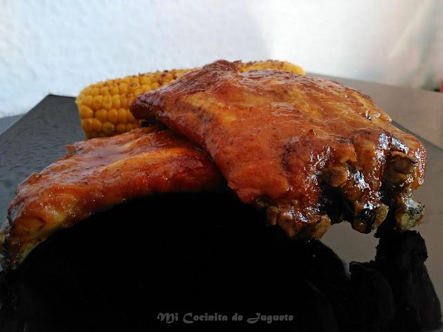 Costillas Glaseadas con Jarabe de Arce y Bourbon