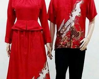 model baju batik kombinasi berpasangan