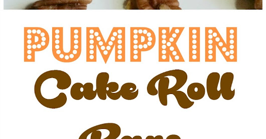 Pumpkin Cake Roll Bars