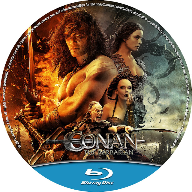 Conan The Barbarian Bluray Label