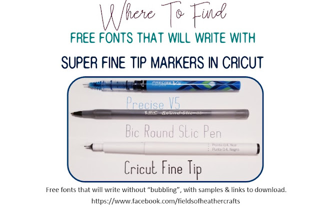 Fields Of Heather: Free Fonts For Writing With Cricut - With