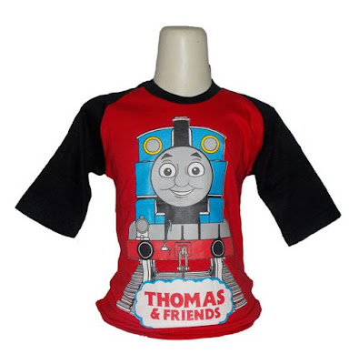 Kaos Raglan Anak Karakter Thomas and Friends 1 Merah