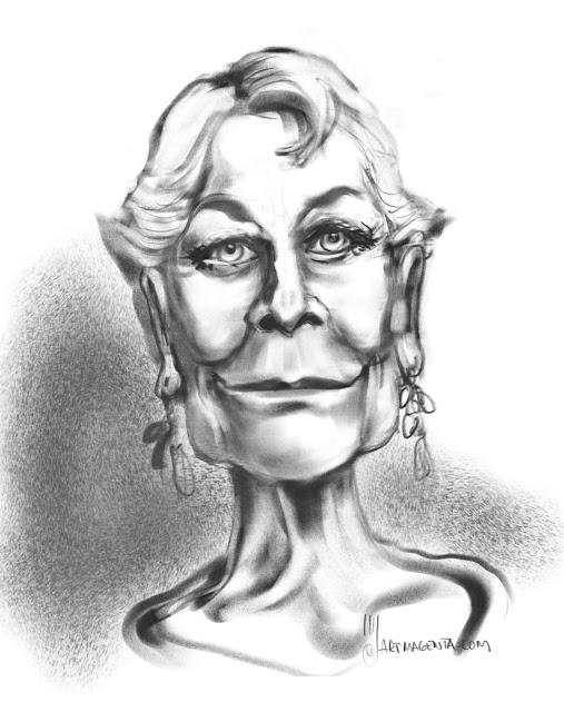 Vanessa Redgrave Caricature by Artmagenta