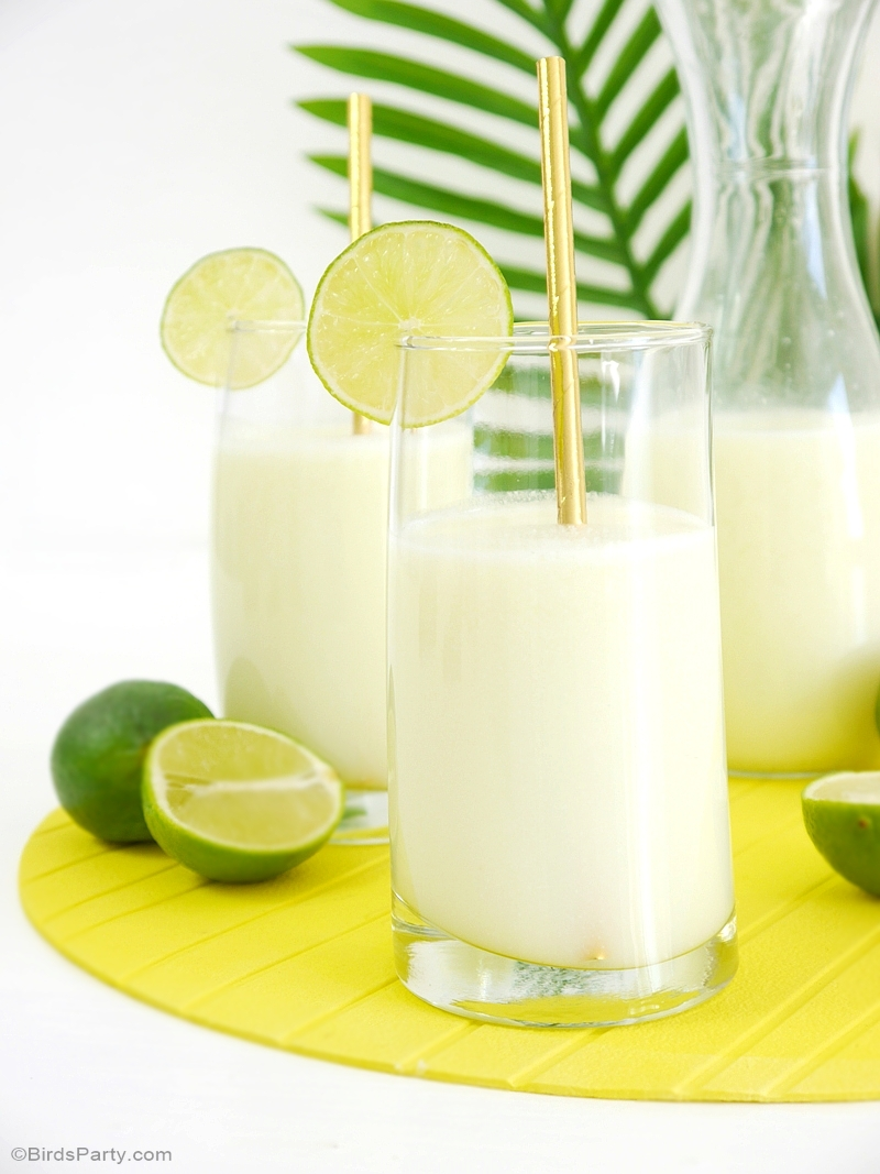 Brazilian Lemonade Limeade Recipe for a Rio Olympic Party - BirdsParty.com
