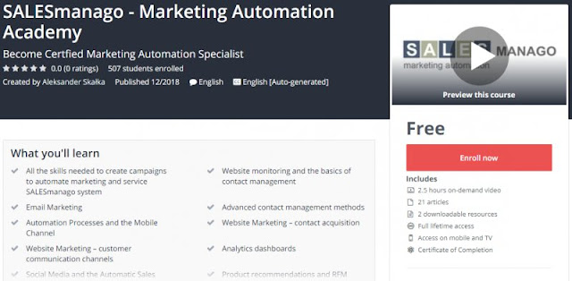 [100% Free] SALESmanago - Marketing Automation Academy