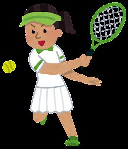 テニス選手のイラスト(東南アジア人女性)