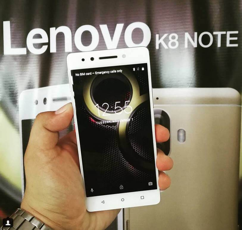 Lenovo K8 Note Unveils in PH for Php8,999; DecaCore Helio X23, 4GB RAM, 64GB ROM, Dual Cameras, 4000mAh Battery
