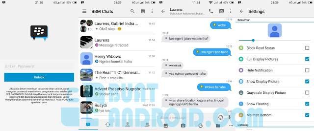 Download BBM Mod Iphone V2.12.0.11 Clone Apk (Blue Chat) Terbaru