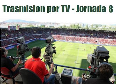 Canales de trasmisión del futbol mexicano jornada 8