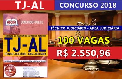 Concurso TJ-AL 2018 Oficial de Justiça Avaliador