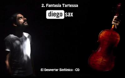Fantasía Tartesa de diegosax Partituras de Violín 1º, 2º y 3º, Viola, Chelo y Piano (Partitura de Pequeña Orquesta de Cuerda y Piano)