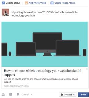 Optimized Facebook post