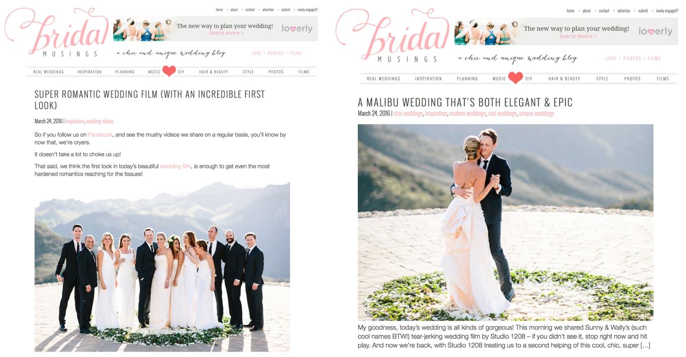 Sunny and Wally's Malibu Rocky Oaks wedding by STUDIO 1208 featured on Bridal Musings