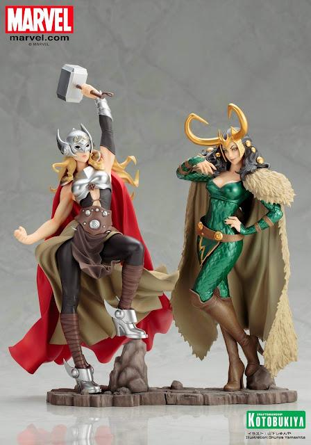 Thor dan Loki Berubah Menjadi Cewek Seksi di Koleksi Figure Ini