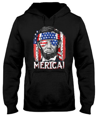 4th of July Shirts Merica Abe Lincoln Hoodie