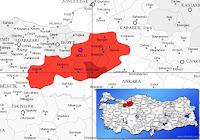 Kıbrıscık ilçesinin nerede olduğunu gösteren harita