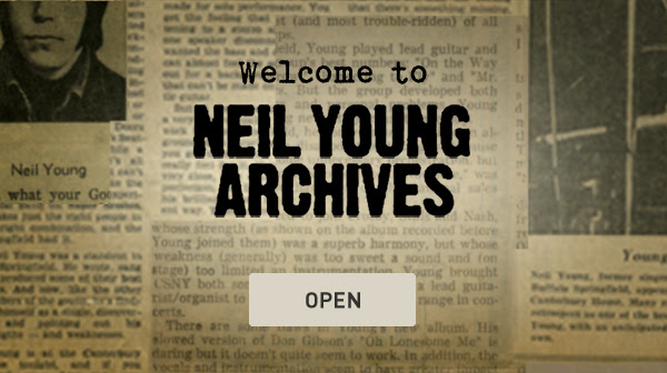 Neil Young Archives Online