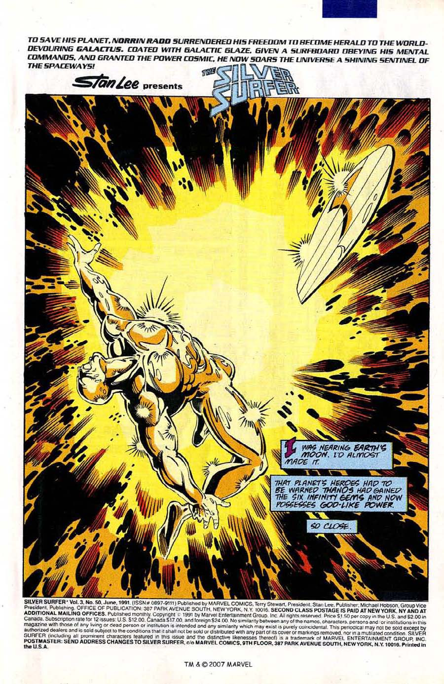 Read online Silver Surfer (1987) comic -  Issue #50 - 3
