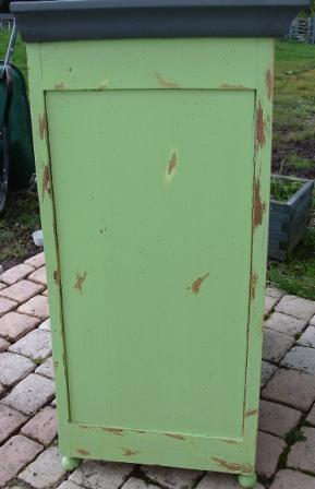 Relooker un confiturier patin gris cours peinture d corative meubles peints patin s - Meubles peints patines ...
