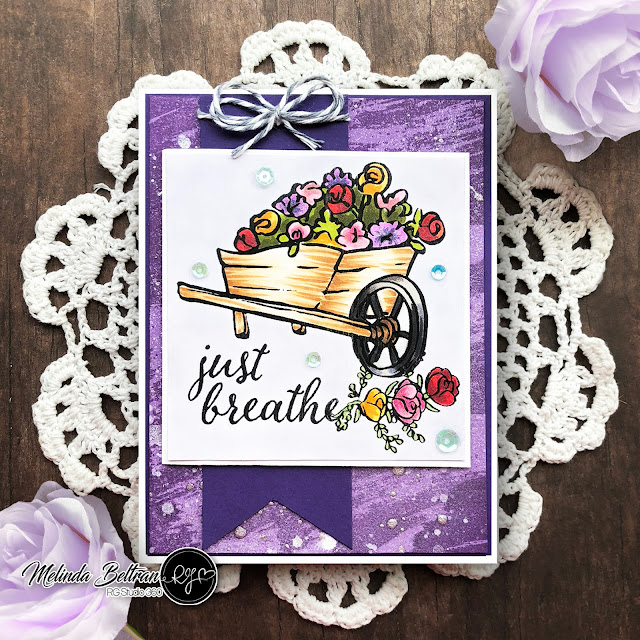 Wheel Barrel | RGStudio 360 Card with Background Stamping-Inking Technique