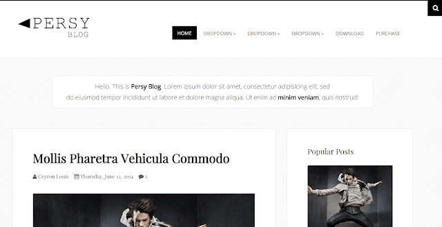 Persy Blogger Template