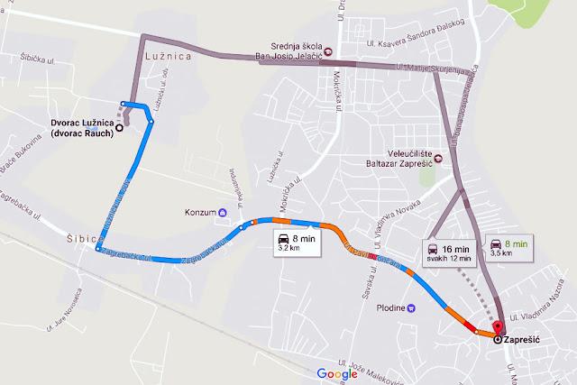 Dvorac Lužnica @ Duhovno-obrazovni centar Marijin dvor kraj Zaprešića mapa karta