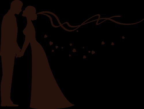 free wedding silhouette clip art - photo #15