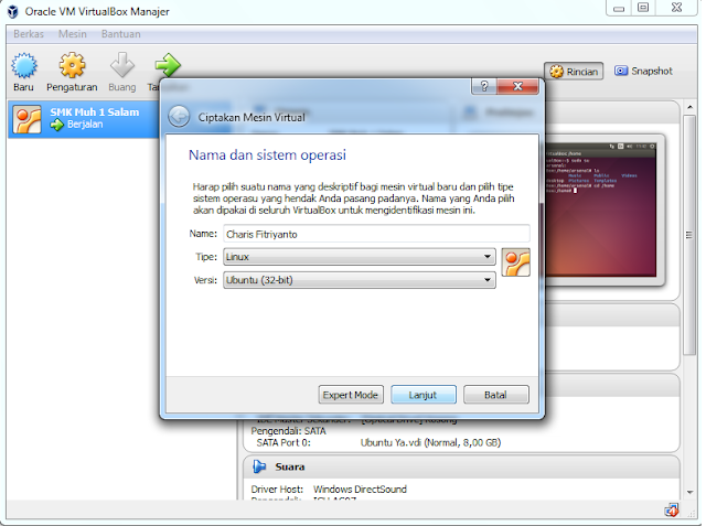 Cara Menginstall Ubuntu di VirtualBox