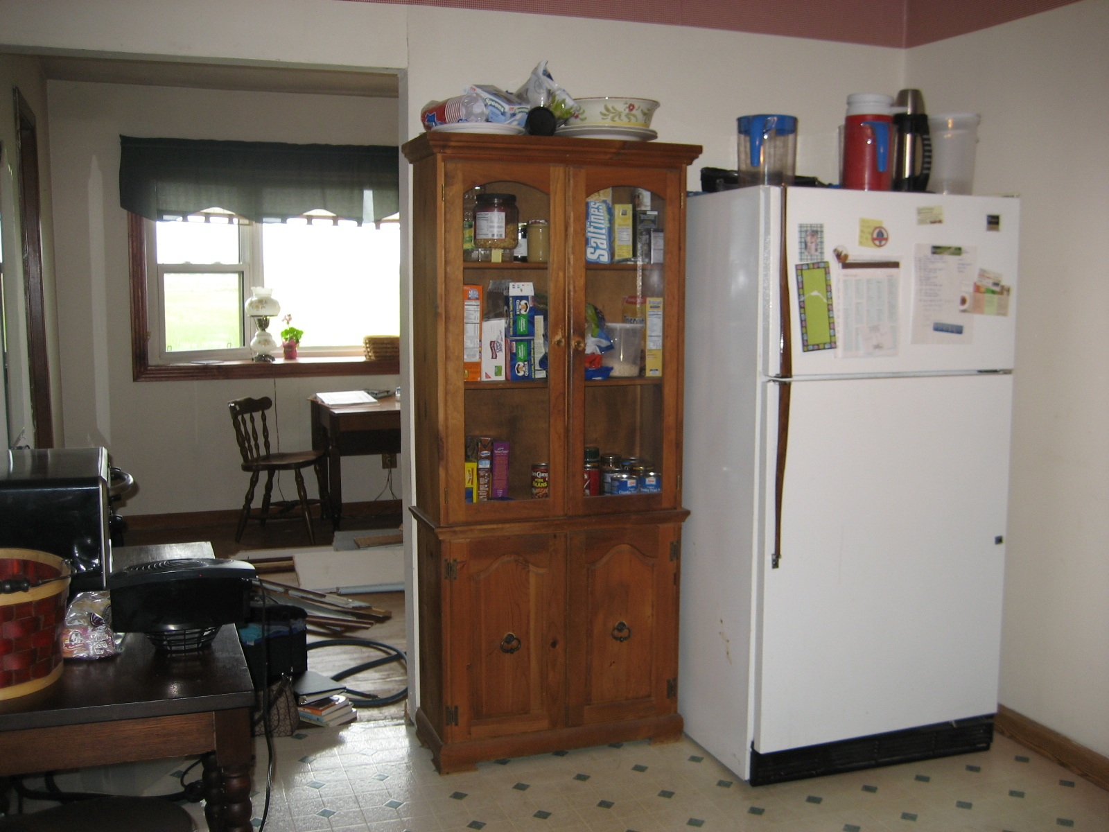 Tall Free Standing Kitchen Pantry