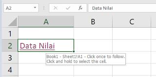 Tips dan Trik Excel Cara menyambungkan link