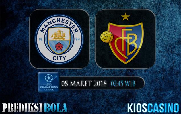 Prediksi Skor Manchester City vs Basel 08 Maret 2018