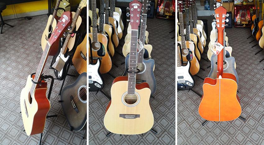Guitar Caravan HS4140 màu vàng truyền thống rẻ hơn màu xám 100k, chỉ 1.000.000đ  ĐẶT MUA TRÊN LAZADA
