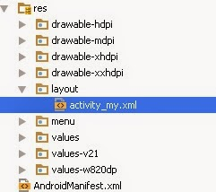 Android Studio, layout