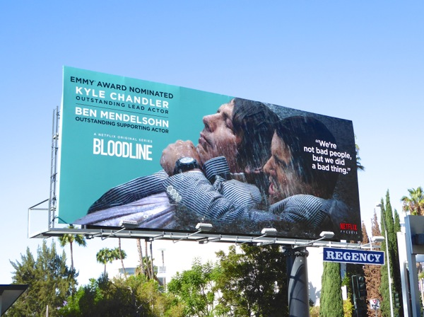 Bloodline 2015 Emmy nomination billboard