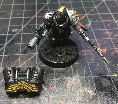 Deathwatch Watch Captain with Jump Pack WIP Front