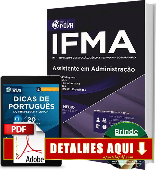 Apostila IFMA 2016 Assistente em Administração Impressa