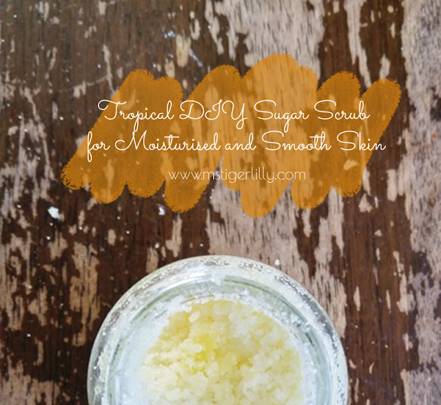 moisturizing exfoliator full of ingredients with skin-glowing properties, to help scrub away the dull skin and deposit the nutrients in this place. It smells divine, and the best part is that it simple to make and even easier to use. Click to read more or pin and save for later.