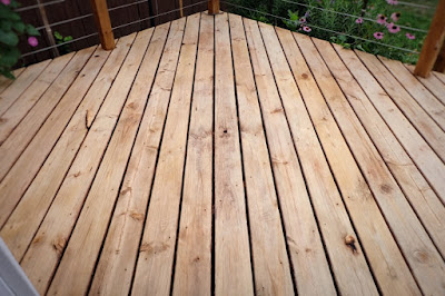 prep dry brightened cleaned deck wood stain ready