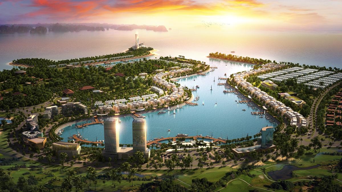 Phối cảnh dự án Shophouse Tuần Châu Marina