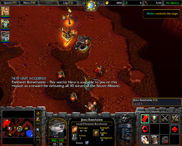 The Search for Illidan Mission 13 | Panda Hero Screenshot | Warcraft 3: The Frozen Throne