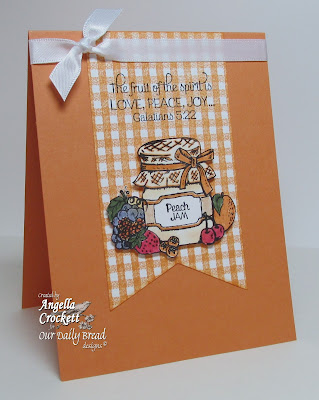 "ODBD ""Peaches"" and ""Gingham Background"" Card Designer Angie Crockett"
