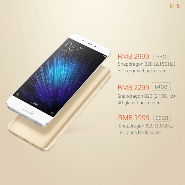 Xiaomi Mi5 Telah Resmi Diluncurkan - Harga Mi5
